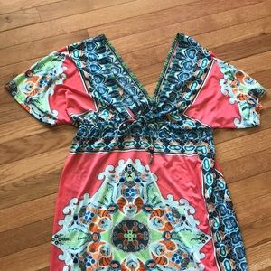 Other - Bright and silky swim beach cover up